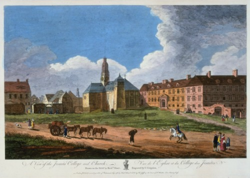 Vue du Collège des Jésuites et de l'église