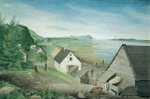Vue de Château-Richer, du cap Tourmente et de la pointe orientale de l'île d'Orléans, près de Québec
