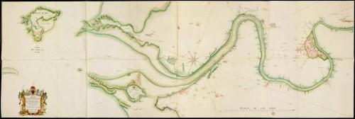 Plan de la rivière de Charente depuis le port de Rochefort jusqu'à son embouchure, 1775, par Digard de Kergüette