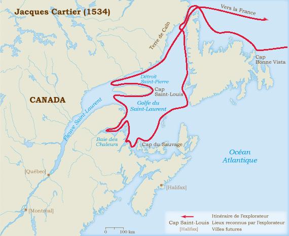 Jacques Cartier 1534 1542