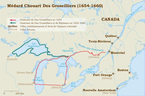 Groseilliers 1654-1660