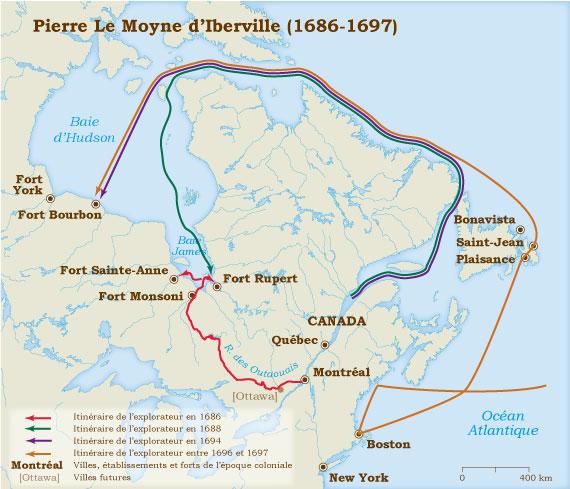 Pierre Le Moyne DIberville 16861702  Muse Virtuel De La Nouvelle France