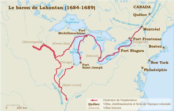 Lahontan 1684-1689