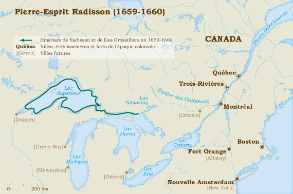 Radisson 1659-1660