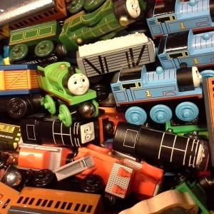 Locomotives et des wagons
