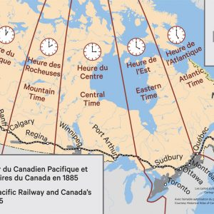Le chemin de fer du Canadien Pacifique et les fuseaux horaires du Canada en 1885