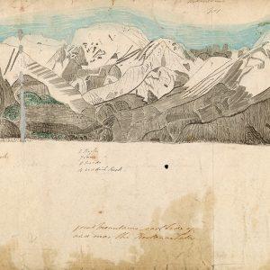 Dessin de montagnes