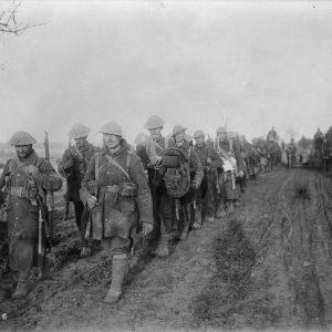 Soldats canadiens après la bataille de la Somme