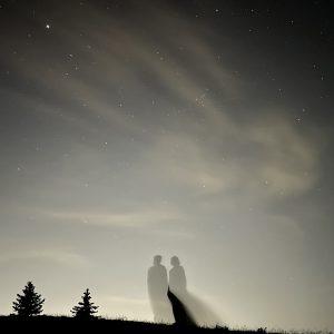 Silhouettes et ciel