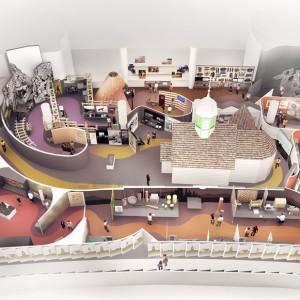 Une illustration de la Galarie 2 de la Salle de l'histoire canadienne