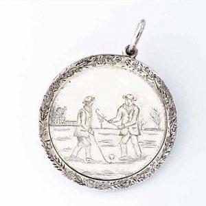 Médaille de shinty en argent